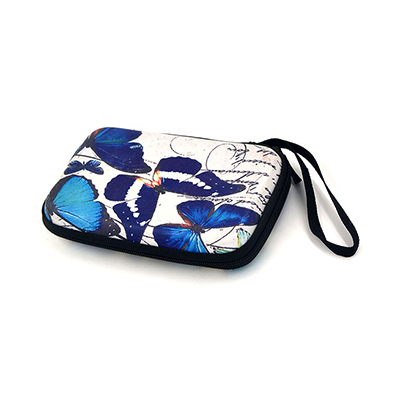 Butterfly Pattern Game Console Travel Case with PU Leather